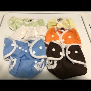 Six Thirstiest Size One cloth diaper covers